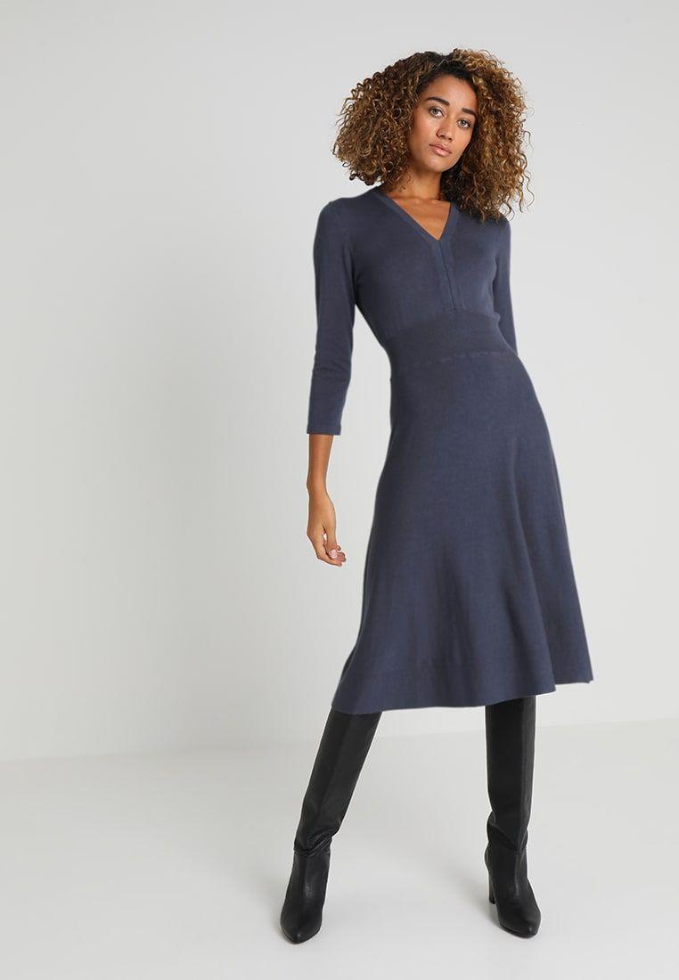 71d7ed4713d6 Stickad klänning - odyssey gray @ Zalando.se 🛒 | Min garderob ...