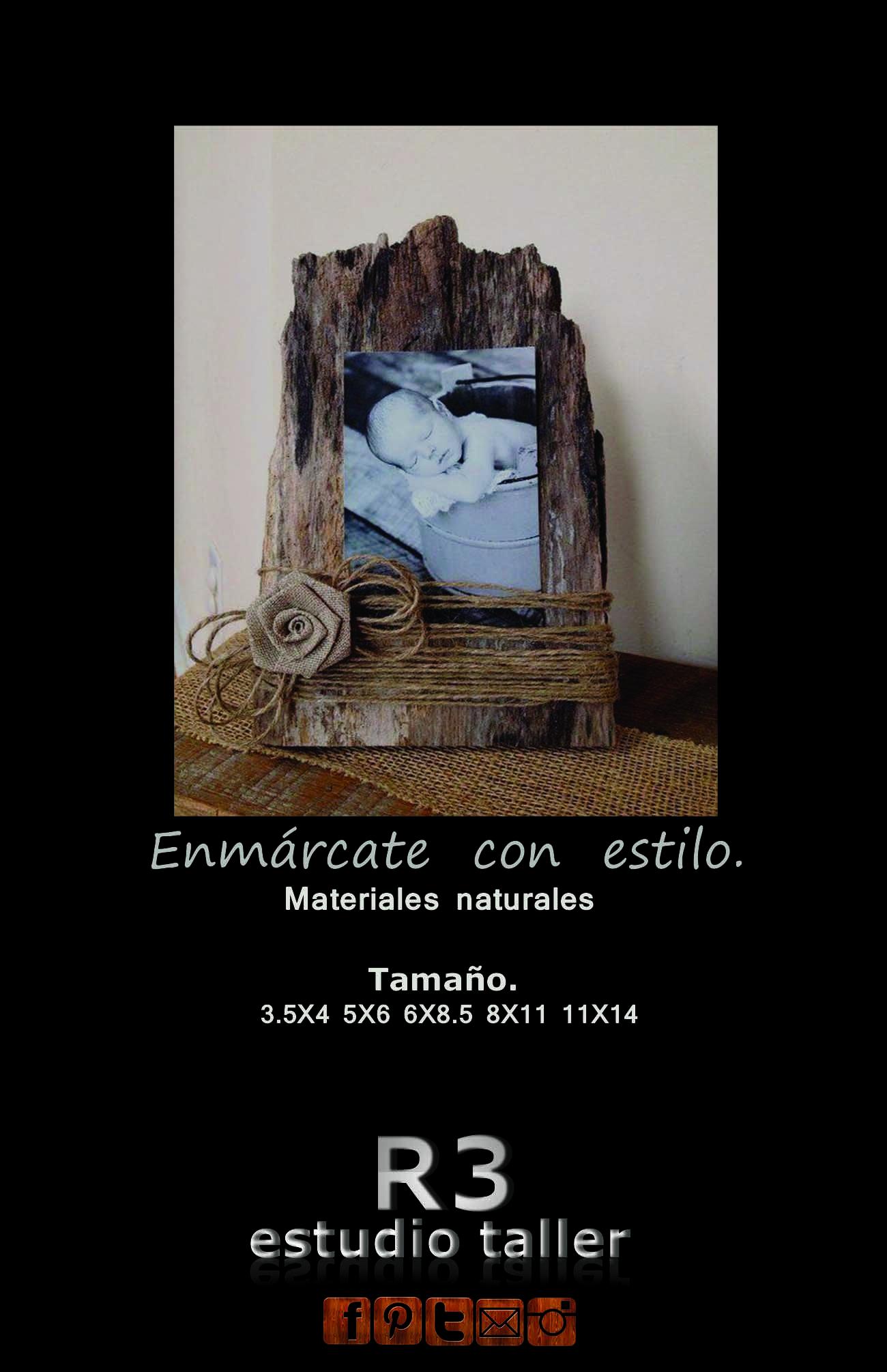 MARCO DE MADERA RECICLADA, PARA FOTOS INDIVIDUALES, FAMILIARES ...