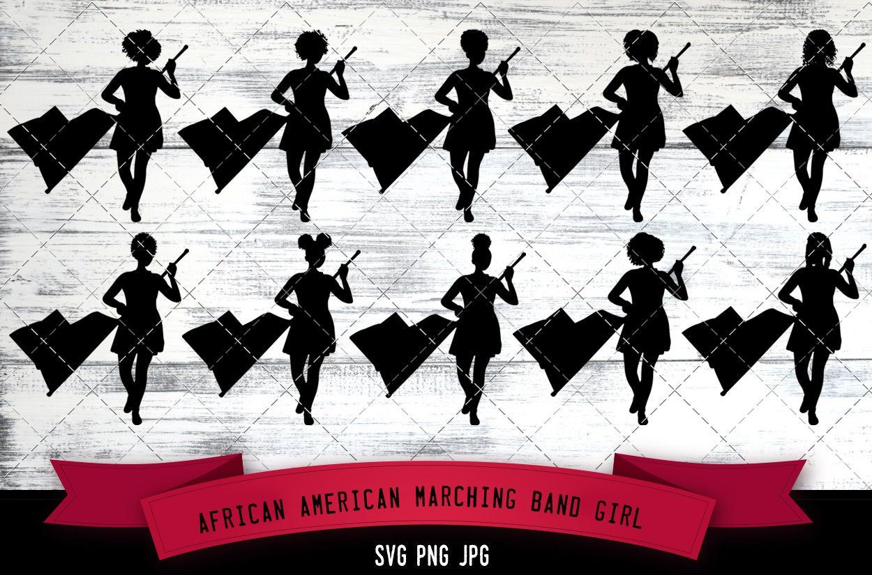 African American Marching Band Girl African Band Svg Nubian Etsy Image Editing Software African American Marching Band