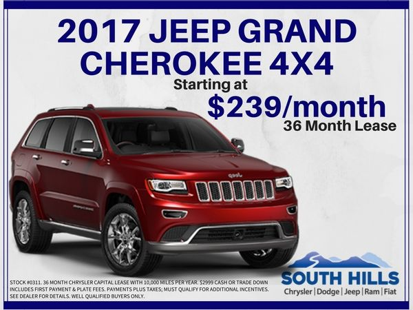 This Is THE Month To Jump Into A NEW Jeep Grand Cherokee From South Hills.  Chrysler ...