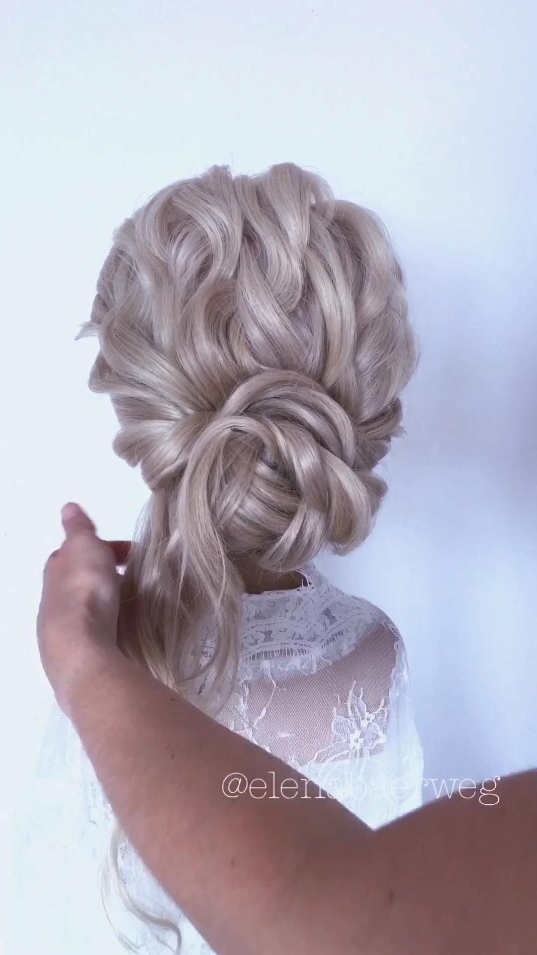 Easy bridal updo tutorial Brautfrisur step by step