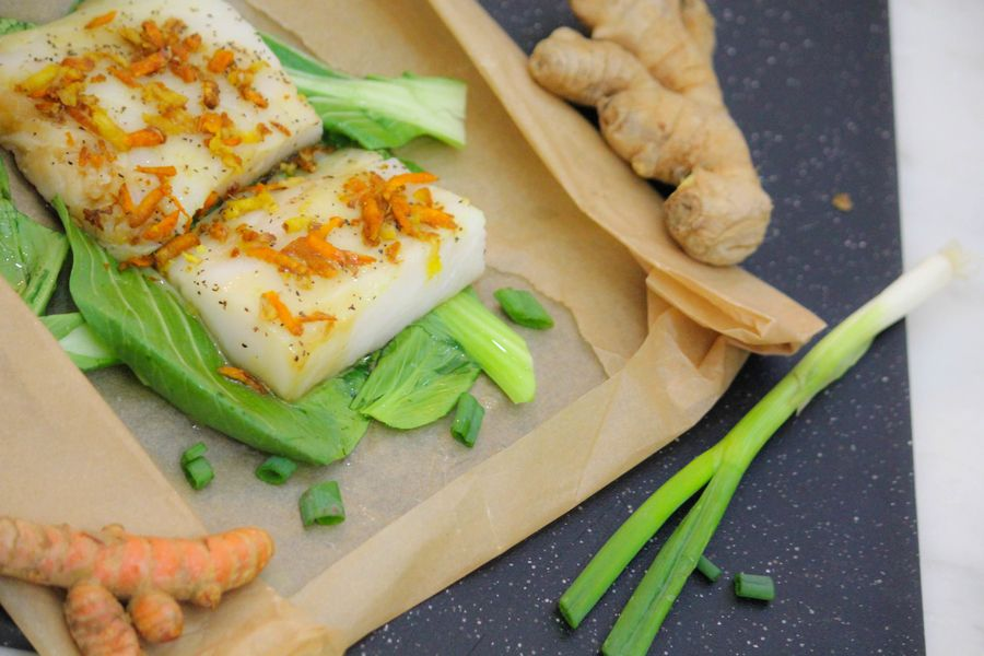 Asian inspired fish in parchment with bok choy from gwyneth food forumfinder Image collections