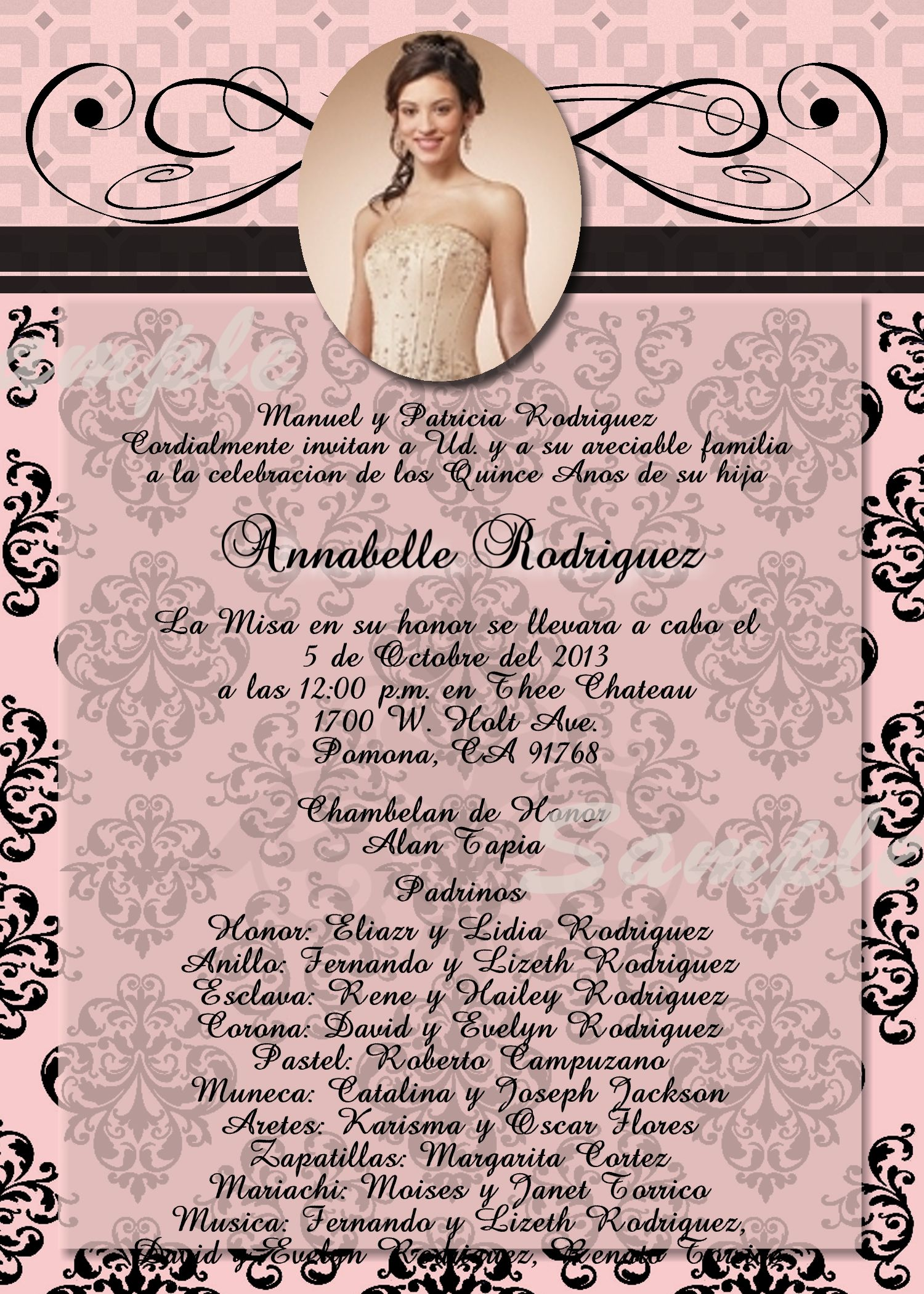 Qinceanera invitation sweet 16 digital and printable invite in paris theme quinceanera sweet sixteen birthday invitation invitation is customized to either or high resolution digital file jpeg which you can print solutioingenieria Choice Image