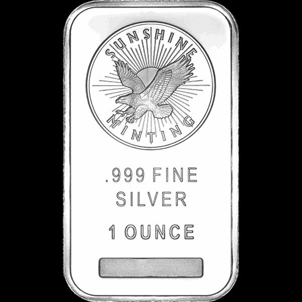 Buy 1 Oz Silver Bar Sunshine Mint 1 Oz Silver Bar Sunshine Mint For Sale Midwest Bullion Silver Bars Silver Bullion