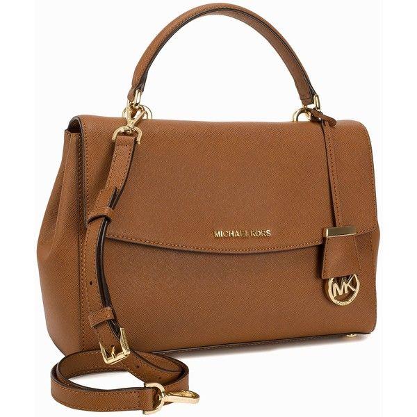 Michael Michael Kors Md Th Satchel (32.350 RUB) ❤ liked on Polyvore featuring bags, handbags, accessories, luggage, womens-fashion, brown satchel, satchel handbags, flap satchel handbag, flap handbags and zipper handbag