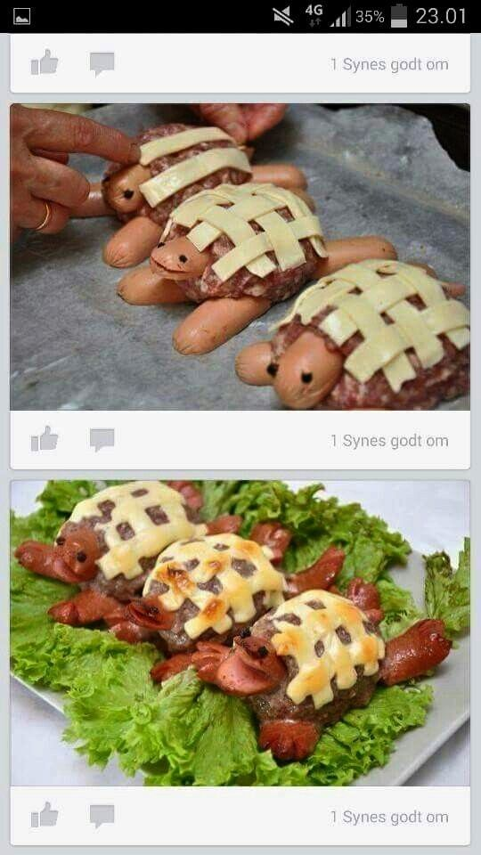 This is really a nice idea to the child -  Cheese sausage turtle2 This is really a nice idea for a