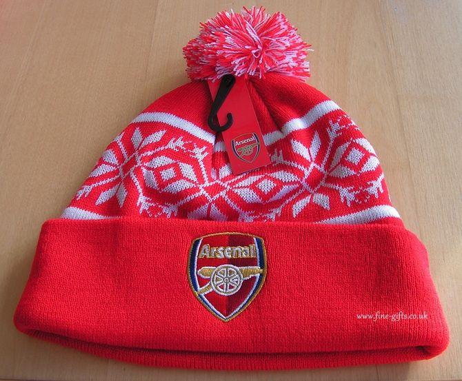 7c015ff9687 Bobble Hats - Arsenal FC Woolly Ski Hat - Football Club Winter Hats for Men   FineGifts  BobbleSkiHatFootballClubArsenalFC