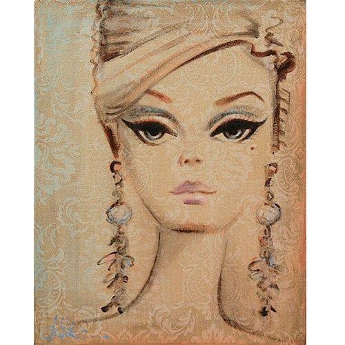 vintage barbie painting I love!!! aglamouraffair