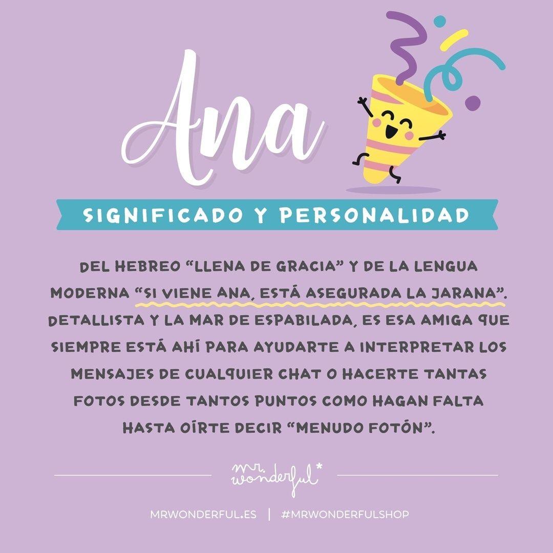Este #viernes viene con alegría doble para todas las Anas al otro lado de  la pantalla! Empieza e…   Frases motivadoras, Frases bonitas, Significados  de los nombres