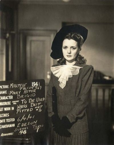 Mary Astor Costume Tests For The Maltese Falcon 1941 Mary Astor Classic Film Noir Maltese