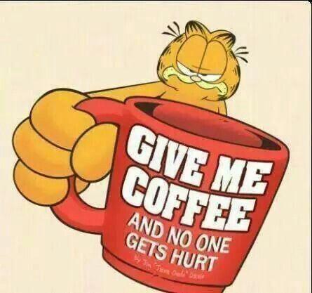 Garfield and coffee