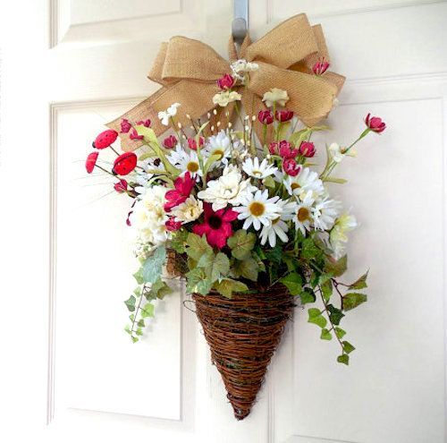 Easter Decorating Ideas for Your Outdoor Space | Flower basket ...