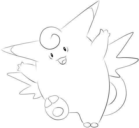 Clefable Coloring Page