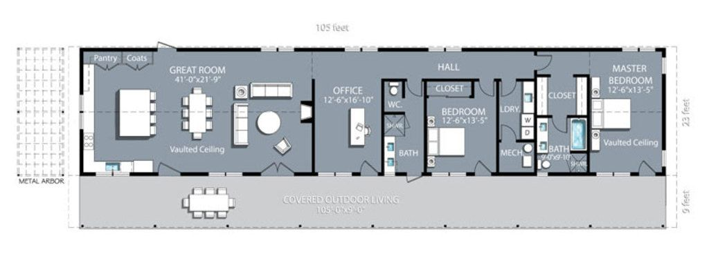 Ranch Style House Plan - 2 Beds 2.00 Baths 2415 Sq/Ft Plan #888-2 ...
