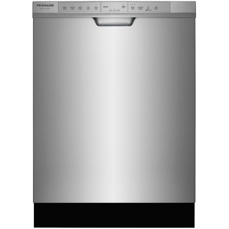 Kitchen Frigidaire Gallery Stainless Steel Electric Range Microwave Dishwasher Refrigerator With Fren With Images Frigidaire Gallery Built In Dishwasher