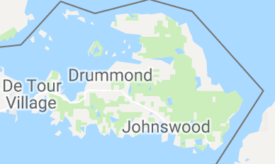 on drummond island map
