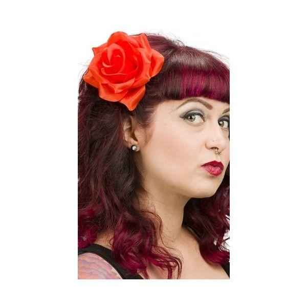 Hair With Flair, Rose Hair Clip, Rose Hair