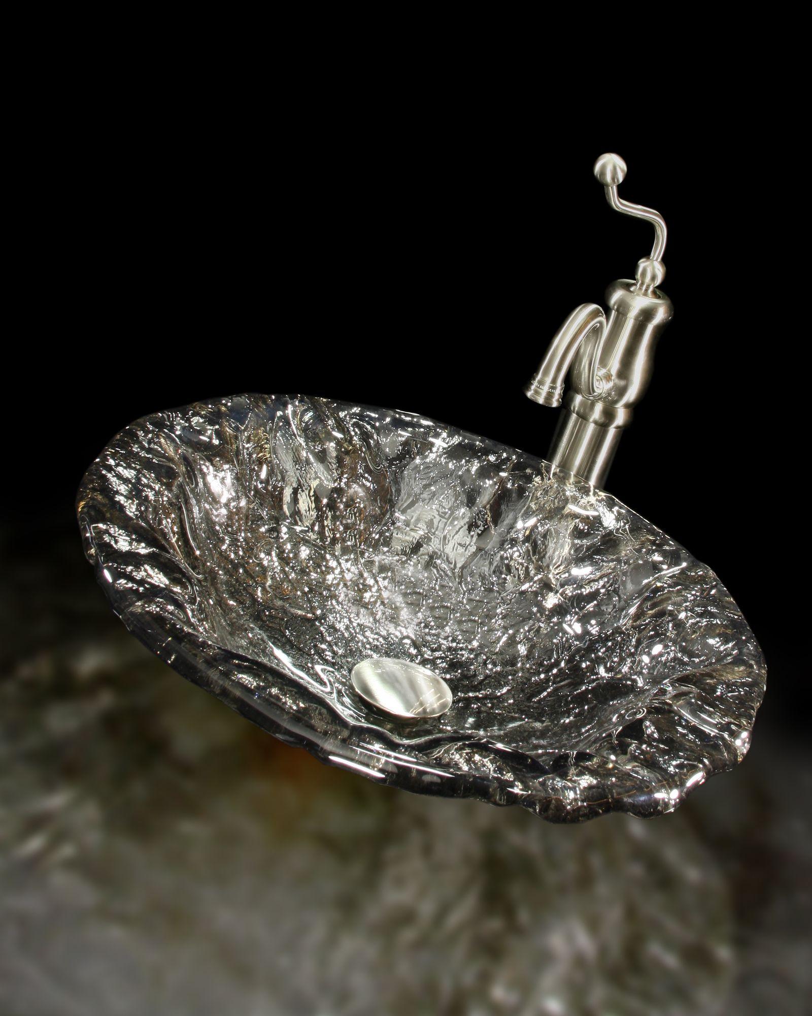 JSG Oceana Brianna Art Glass Vessel Sink