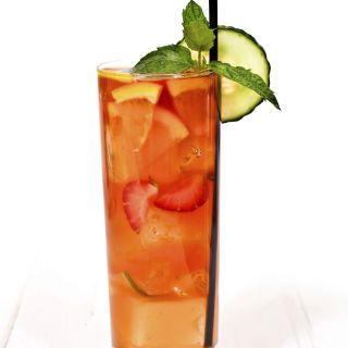 Pimm's Cup  Ingredients:  8 oz. Pimm's No. 1 Cup 24 oz. Chilled Lemon-Lime Soda  Directions: Add mint, cucumber, orange, and strawberry to the Pimm's and chilled lemon-lime soda. Mix in a pitcher filled with ice.