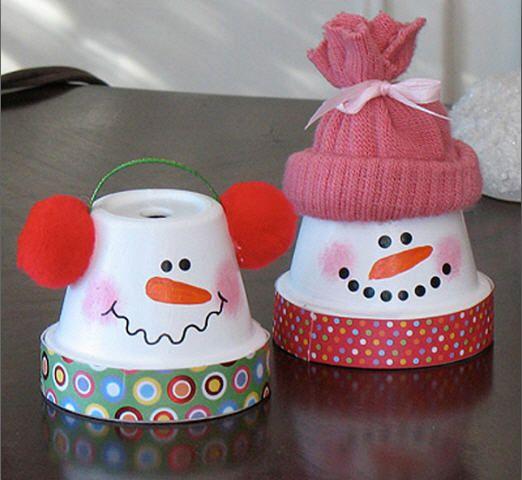 muecos de nieve para decorar la casa en navidad