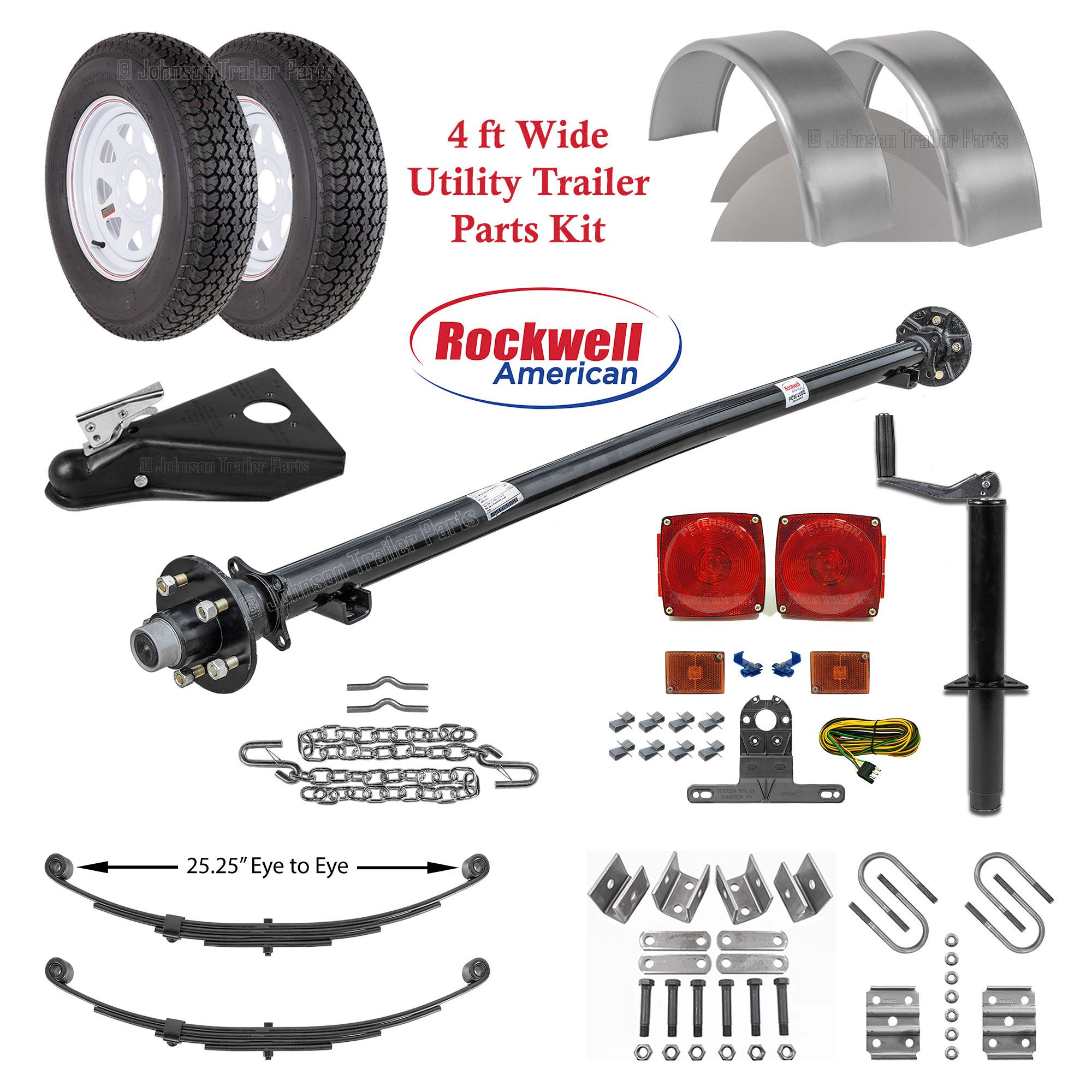 4ft Utility Trailer Parts Kit 3 500 Lb Capacity Utility