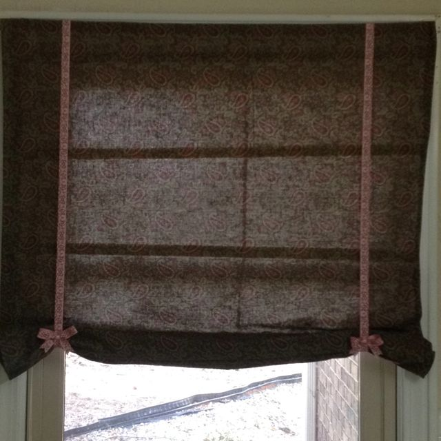Roman shade I made from an old blind!