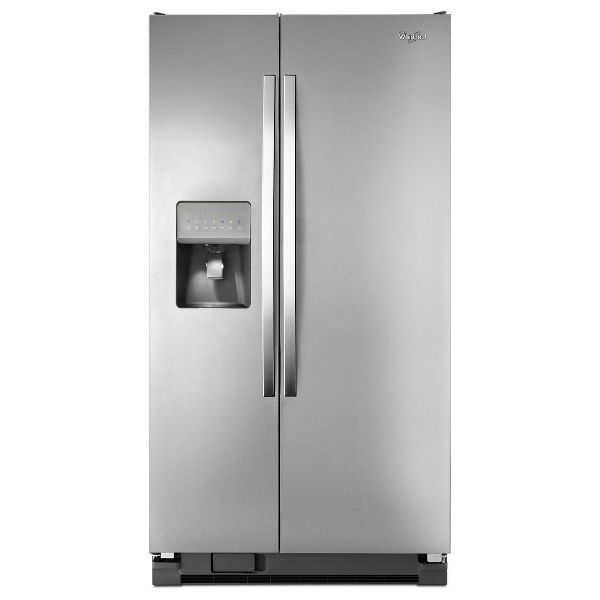 Whirlpool Apartment Size Washer And Dryer: Whirlpool Stainless Steel Side-by-Side Refrigerator