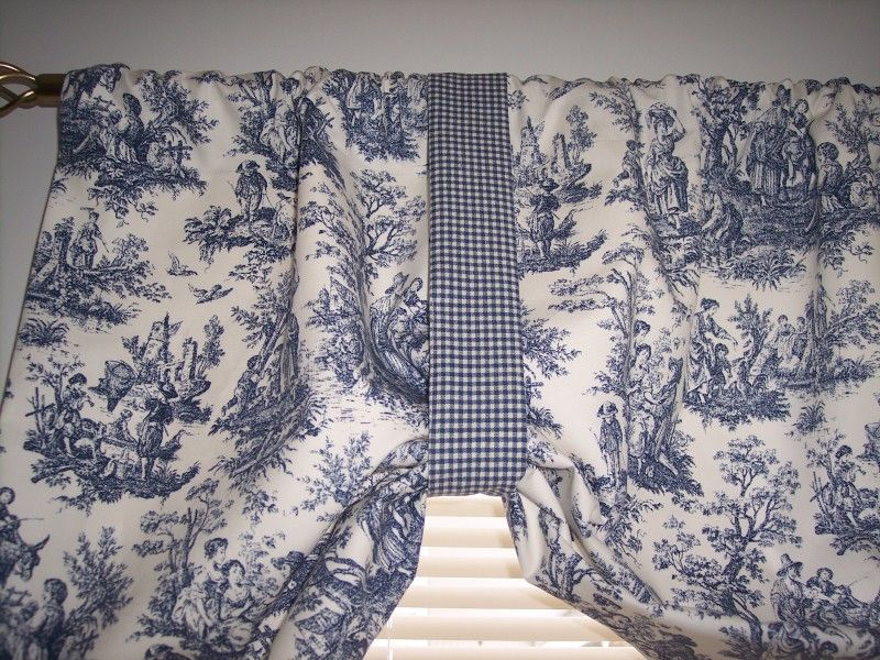 Waverly Blue Toile Curtains Blue On White Waverly Rustic Toile Tie Up