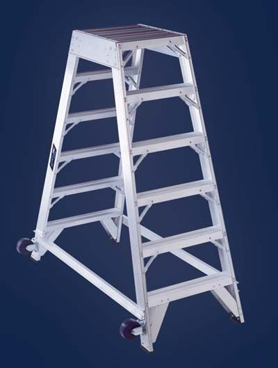 Aircraft Aluminum Mechanic Ladder Type Am8000 Series Steps On Both Sides Design Non Folding Design Is Extremely Ladder Aircraft Mechanics Working Area