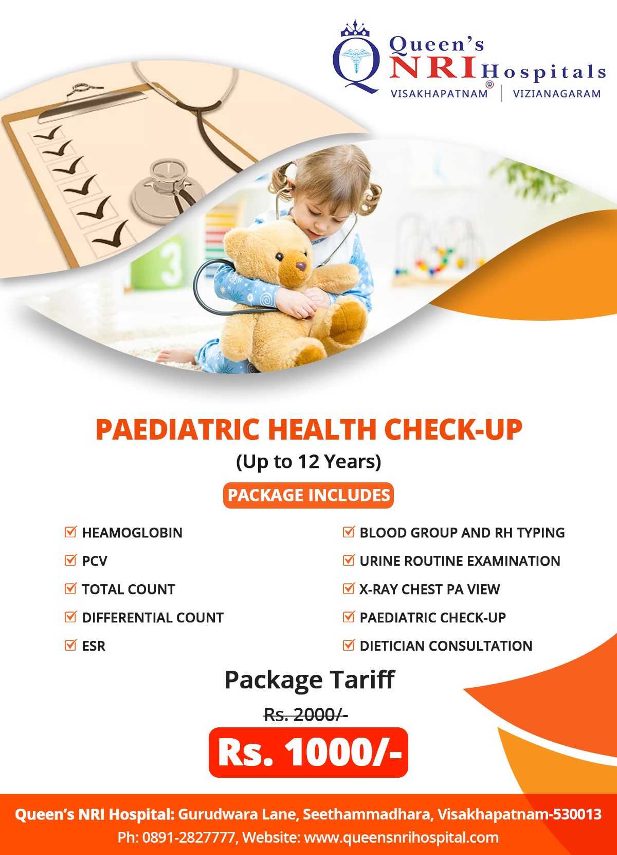 Pediatric Health Check-up Package (up to 12 Years) Package