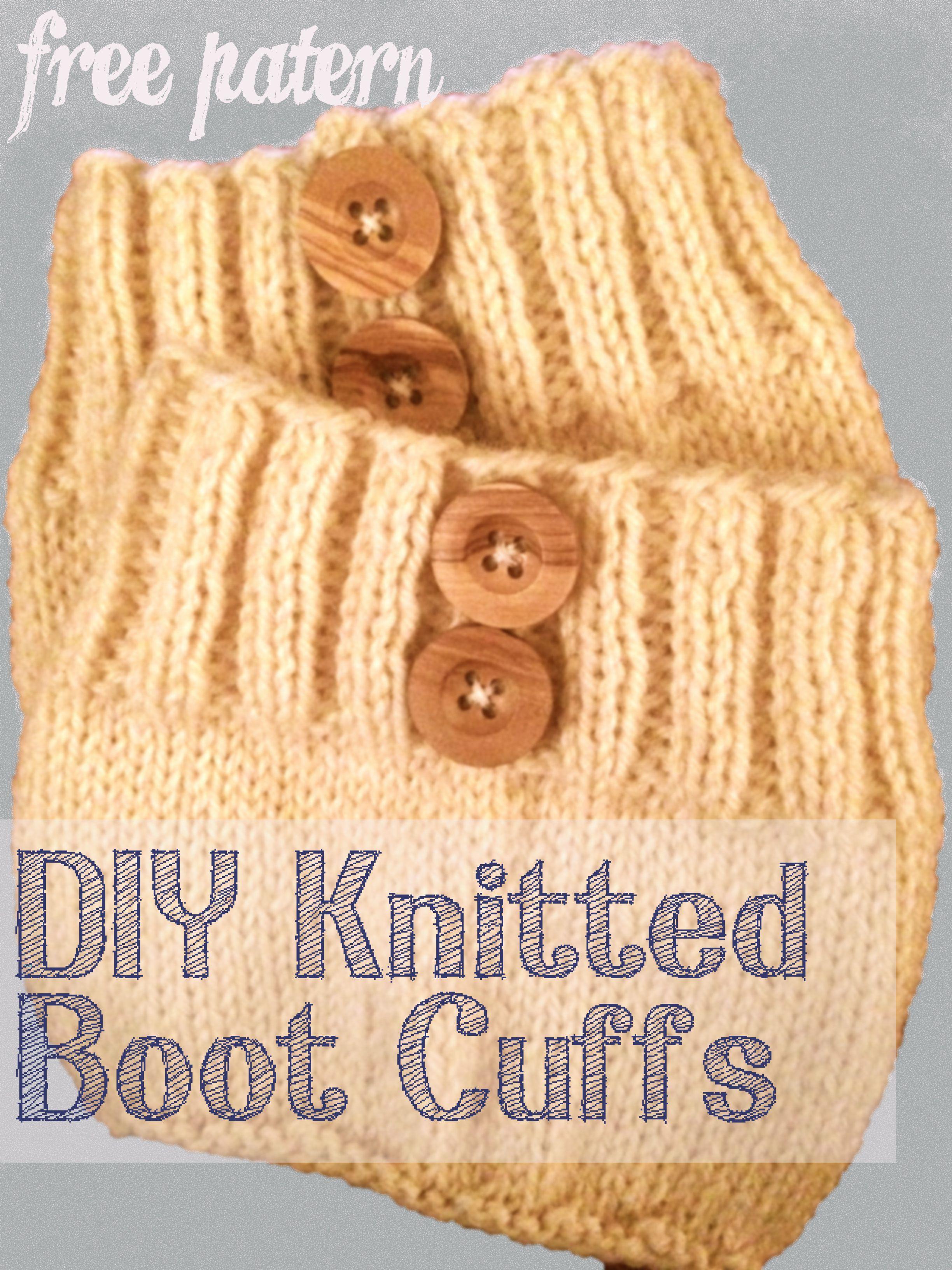 Simple Knit Boot Cuffs | Beginner knitting patterns | Pinterest ...