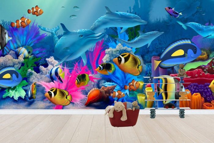 Under The Sea Life Wallpaper Mural Part 48