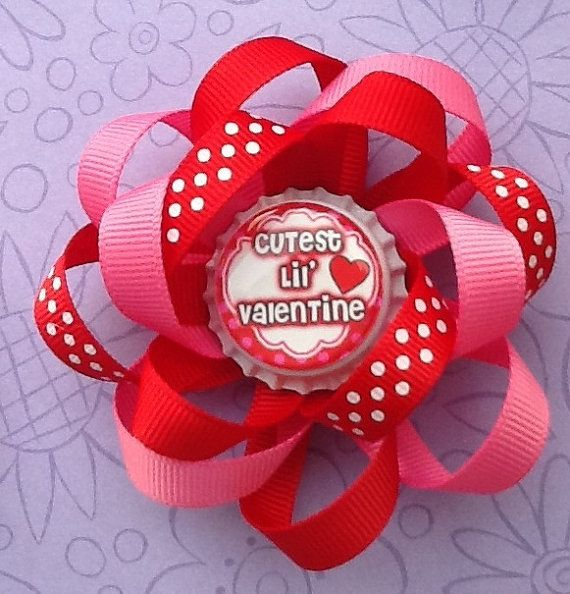 Hairbows  Girls Hair Accessories  Happy by oliviasgirlyboutique, $7.00