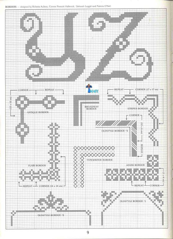 abecedarios a punto de cruz (pág. 15) | Aprender manualidades es facilisimo.com