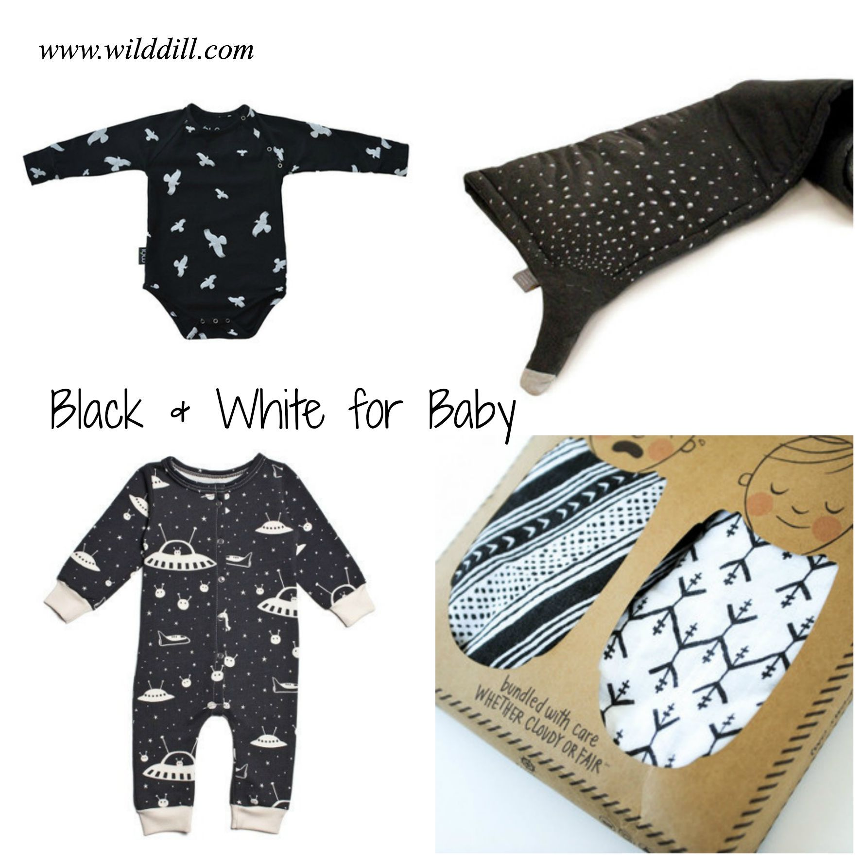 Black and white clothes and accessories for baby! Modern