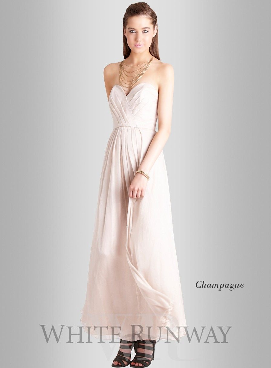 Best wedding dresses for full bust  Bella Maxi by Truese A stunning floor sweeping gown by Truese A