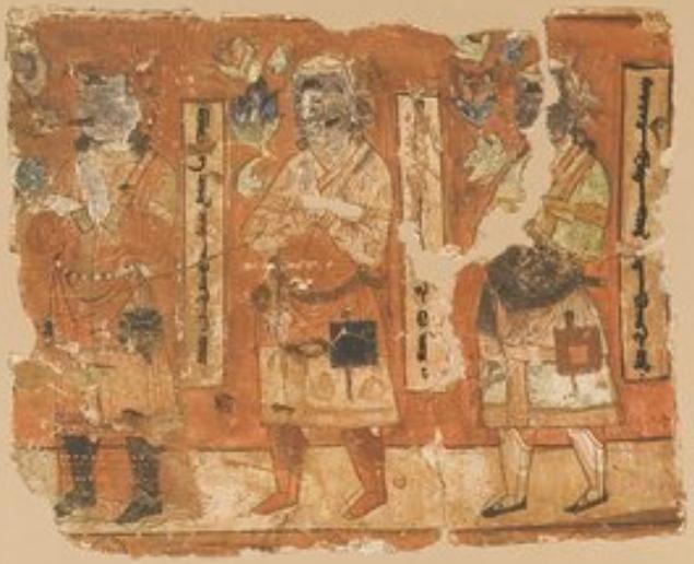 Bezeklik Fresco From Temple No 1 Tarim Basin Painting Fresco Illustration