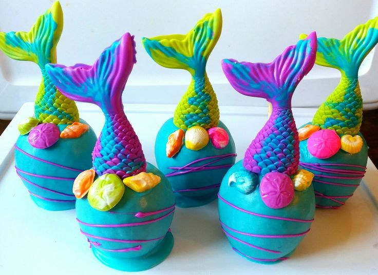 Under the Sea/Mermaid Inspired Candy Apples Baby shower
