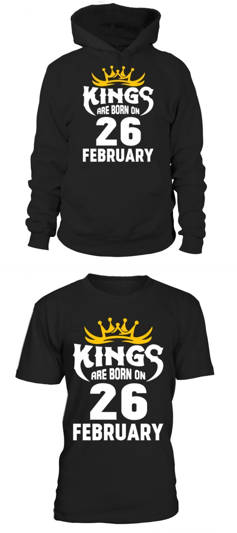 b2d4f4ad5 Father son t shirts kings are born on 26 february mother and son t shirt  design