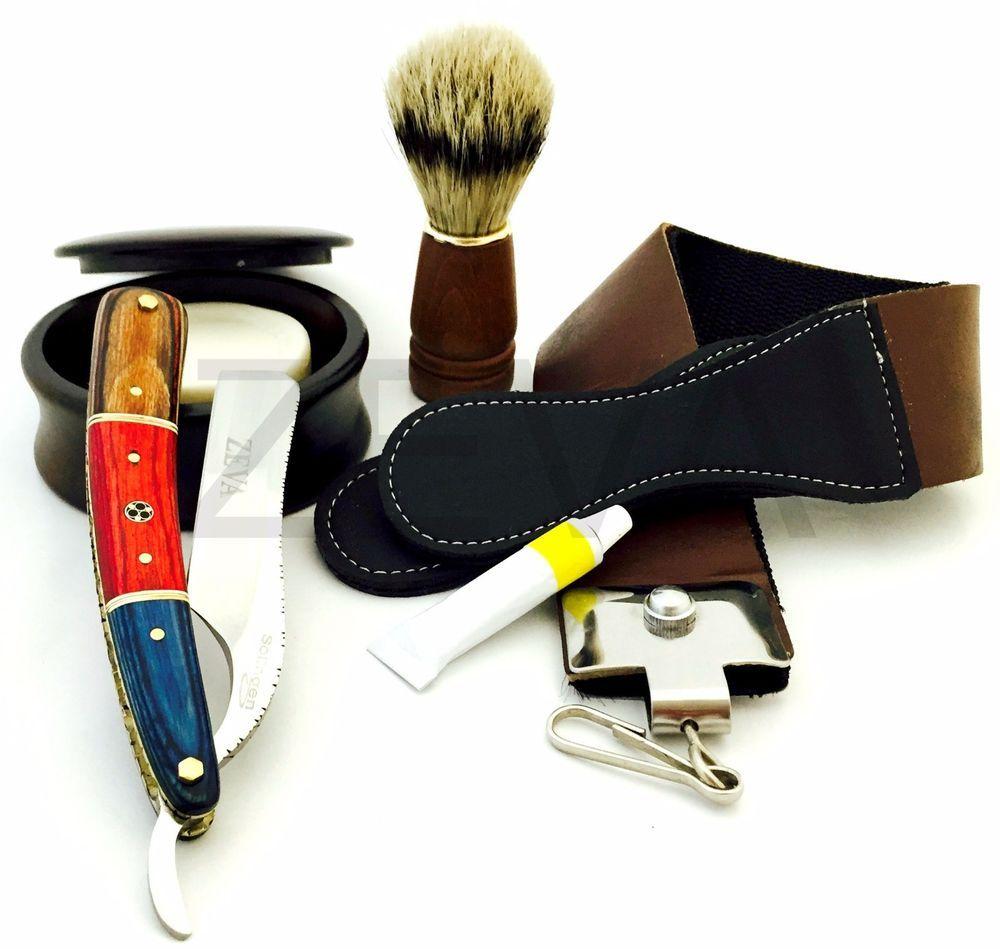 Zeepk Exposed Razor Blade Holder Shavette Barber Salon Rasoir 100 Derby Blades Straight Razor Shaving Straight Razor Shaving Set