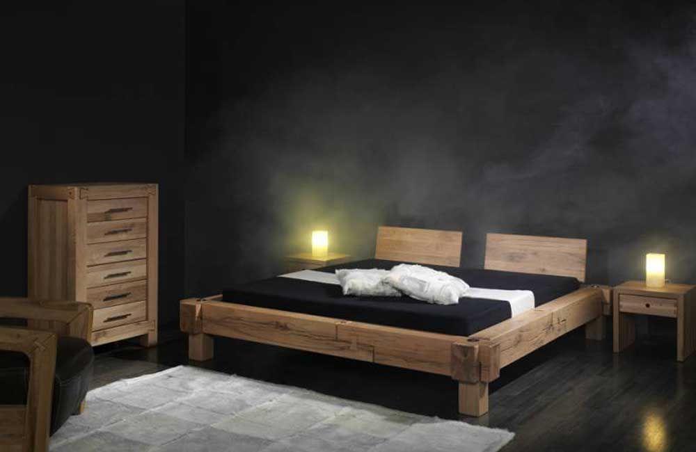 Balken-Bett - Sumpf-Eiche von Sprenger Möbel Wohnideen Pinterest - schlafzimmer set 180x200