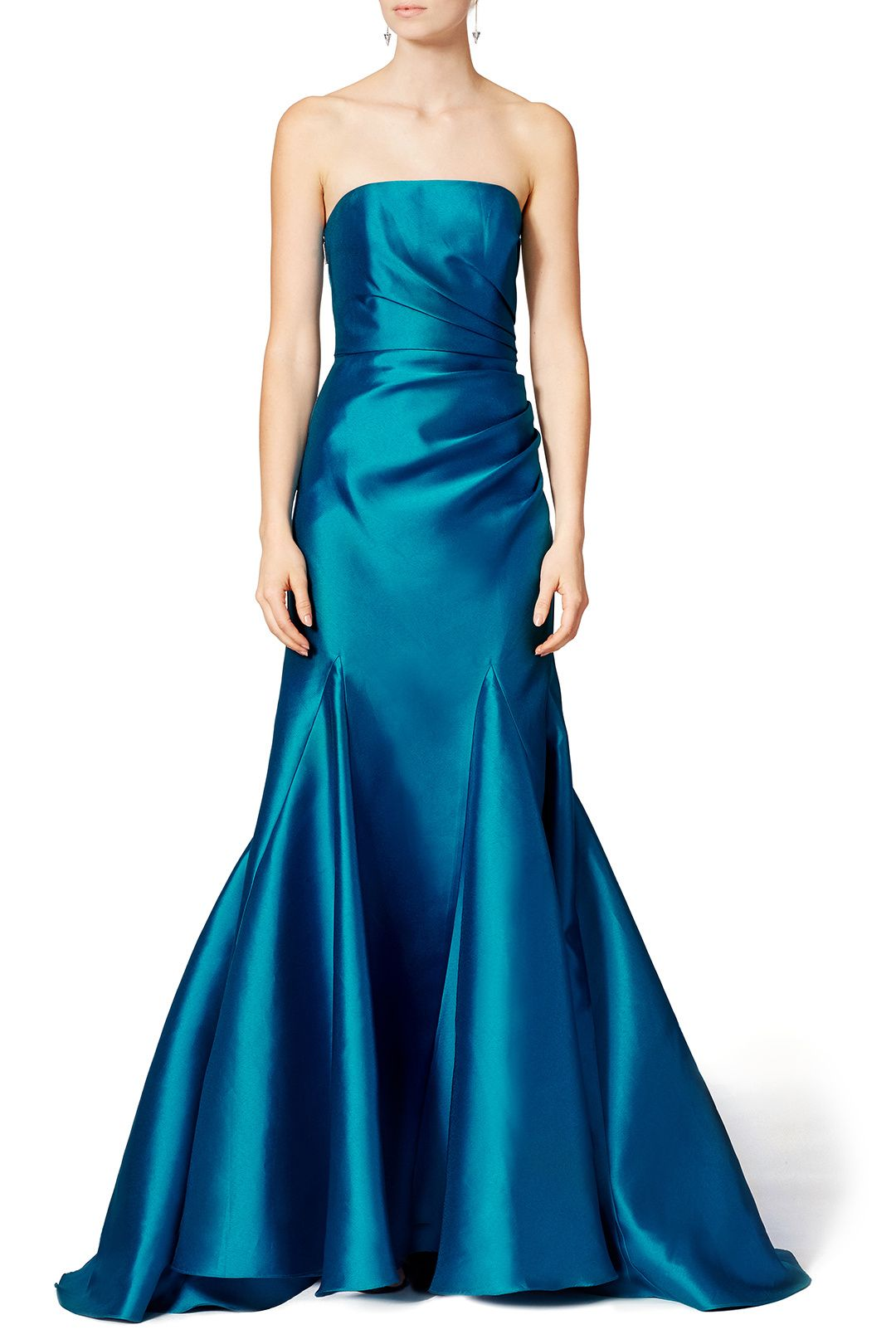 Peacock Gown | Badgley mischka, Peacocks and Gowns
