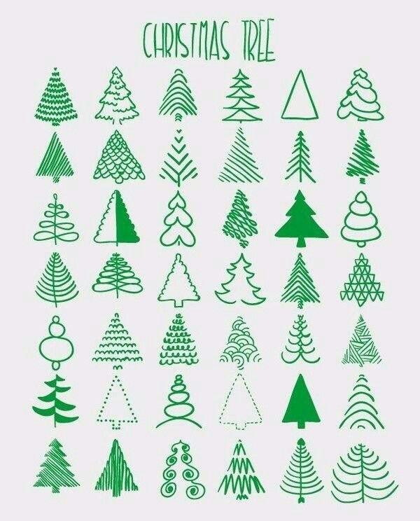 Christmas Tree Doodle : christmas, doodle, Christmas, Doodling, Cards, Handmade,, Handmade, Christmas,, Doodle
