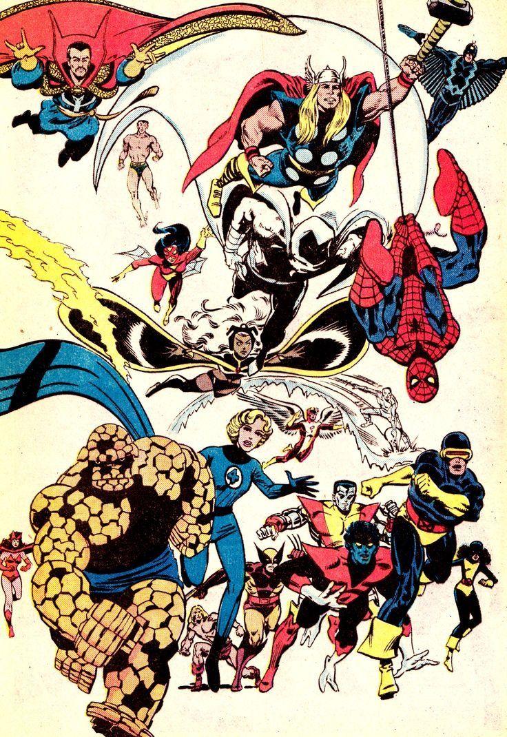 Avengers X Men Fantastic Four Etc Marvel Superheroes Marvel Comics Superheroes Comics