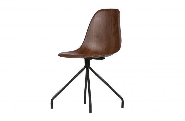 Set v 2 kim stoel kuip in houtlook bruin | Stoelen & eetbanken ...