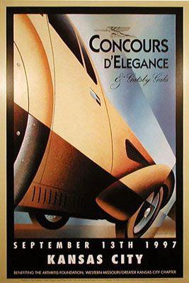 Alain Levesque prints,  Kansas City Concours, Talbot-Lago,1997