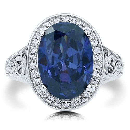 6 Carat Oval-Cut Sapphire Cocktail Ring