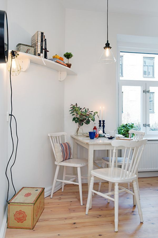 10 Small One Room Apartments Featuring A Scandinavian Décor Unique Dining Room Apartment Ideas Decorating Inspiration