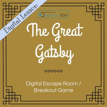Digital The Great Gatsby Escape Room Breakout Game By Loquacious Learning Breakout Game Language Arts Lessons Ela Lesson