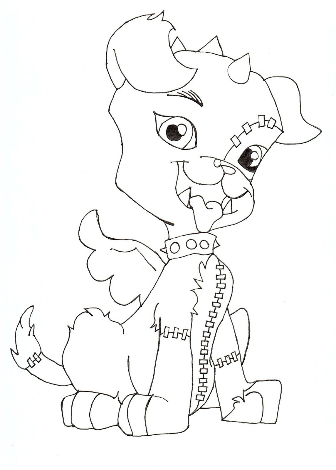 frankie stein monster high coloring pages haunted halloween